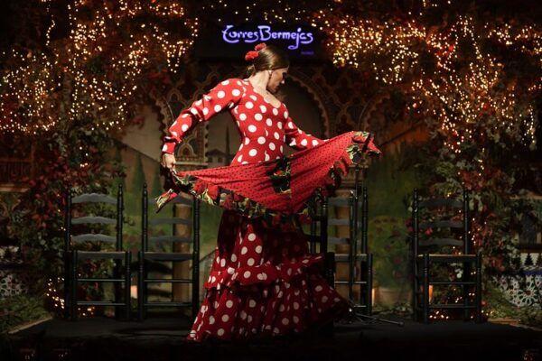 Flamenca en el Tablao Flamenco Bermejas